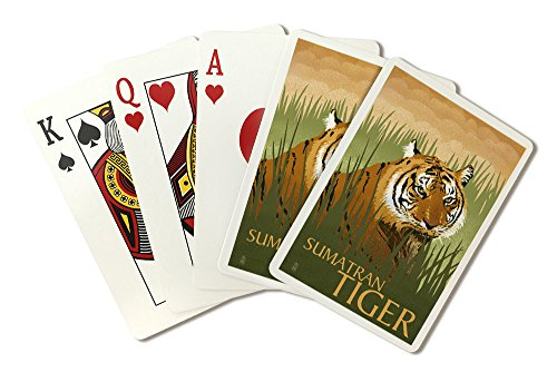 (Sumatran Tiger - Lithograph Series (Playing Card Deck - 52 Card Poker Size with Jokers) )