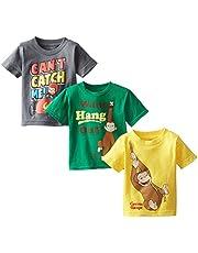 Curious George Boys' Boys Assorted T-Shirt 3-Pack No 1