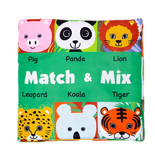 - Quner Baby Book Cute Crinkly Animal Puzzle Cloth Book Baby Intelligence Development Learning Baby Toy Bright Color Soft Book Super Large … (whose face)