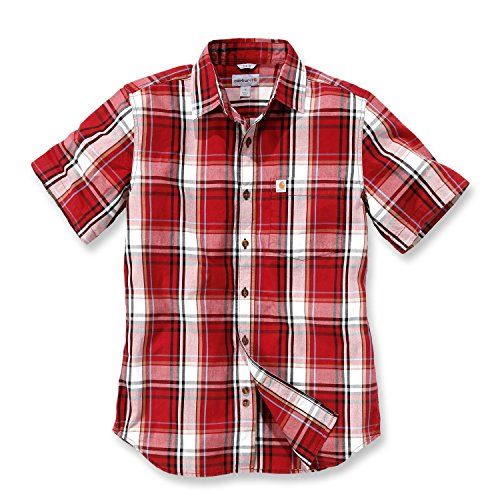 "Carhartt NEW Slim Fit Plaid Short Sleeve Shirt"",CH102548,dark crimson, L"