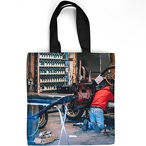 Engine Electrical Sedan (Westlake Art - Car Mechanic - Tote Bag - Fashionable Picture Photography Shopping Travel Gym Work School - 16x16 Inch (5004A))