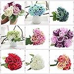 LtrottedJ-9-Heads-Artificial-Silk-Fake-Flowers-Leaf-Rose-Wedding-Floral-Decor-Bouquet