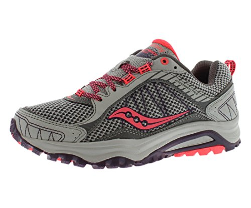 Saucony Women's Grid Excursion TR9 Trail Running Shoe, Grey/Plum, 9.5 W US