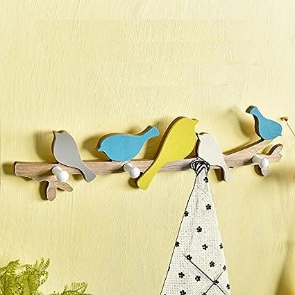 Amazon.com: Astra Gourmet Birds On Branch Hanger With 4 Hooks ...