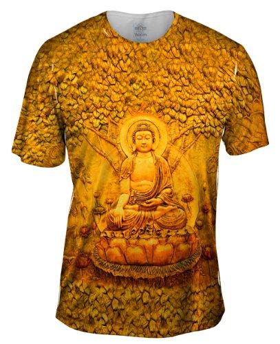 Yizzam-Buddha-Under-A-Tree-Statue-TShirt-Mens-Shirt
