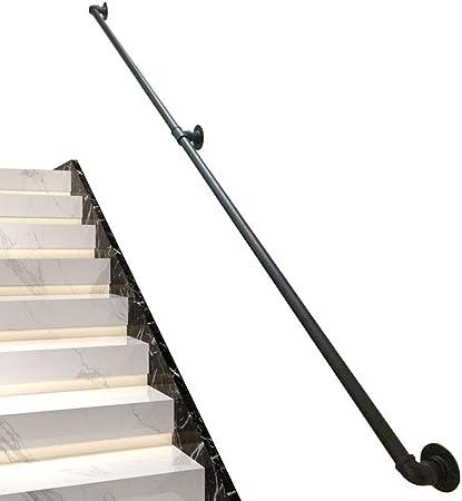 Barandilla para barandilla de escalera Kit completo de barandilla negra de hierro forjado industrial, interior exterior contra la pared Barandilla Barra de soporte de ventana 30 ~ 600 cm, apoyabrazo: Amazon.es: Hogar