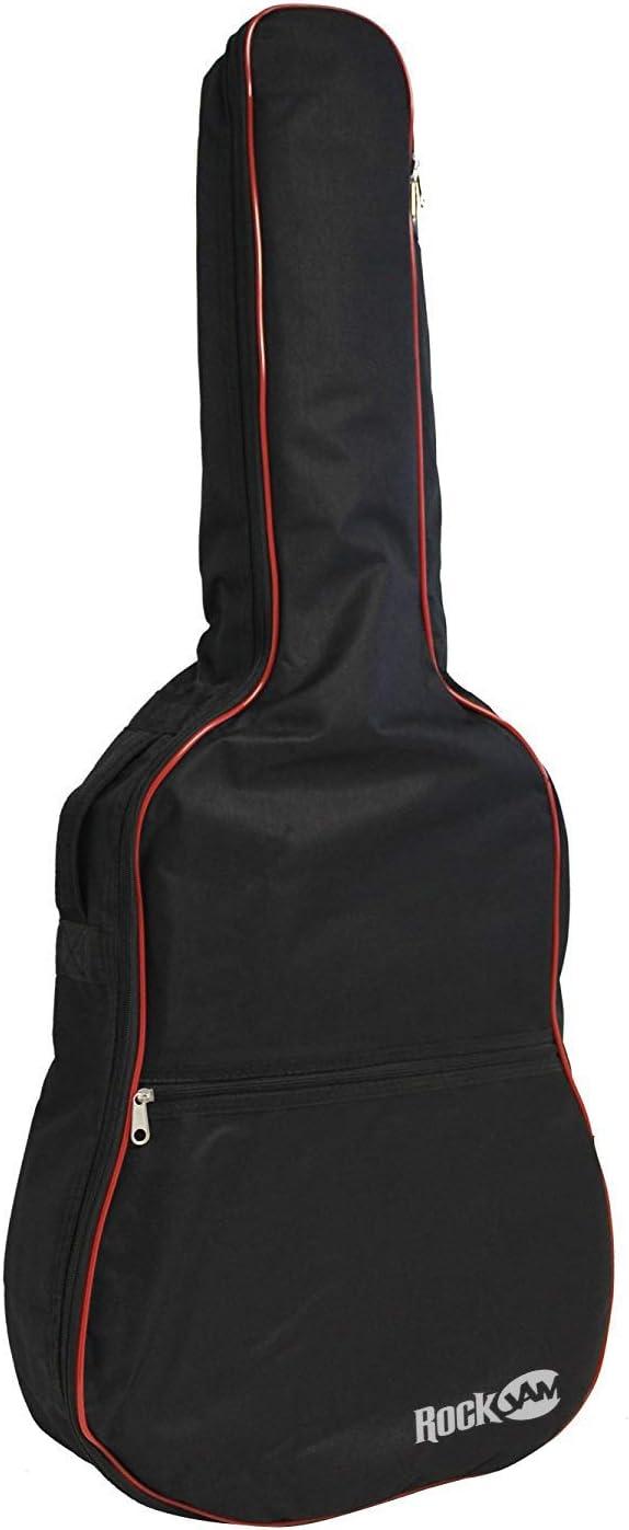 Guitarra acústica RockJam acolchado bolso con la manija de transportar y correa para el hombro
