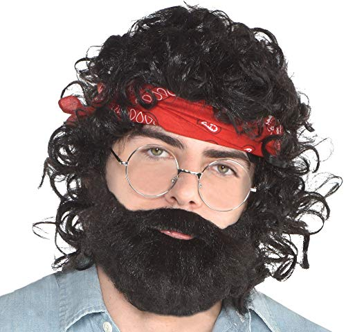 SUIT YOURSELF Up in Smoke Chong Costume Accessory Supplies for Adults, One Size, Include Wig, Bandana, Glasses, and More ()