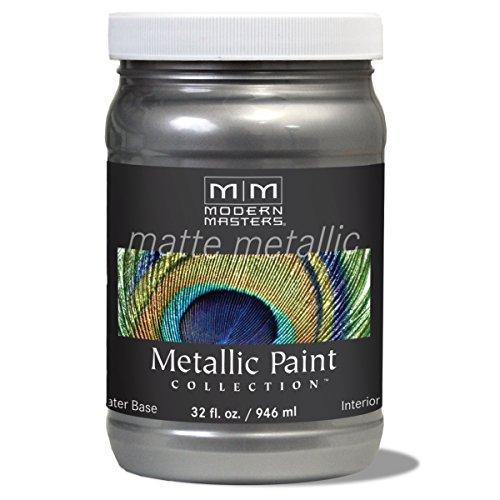 Modern Masters MM209 Matte Metallic Paint, Pewter, - Metallic Paint Interior