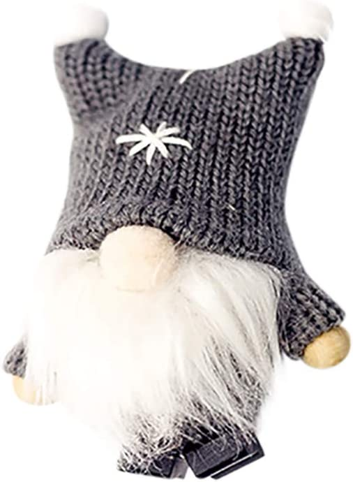 Amazon.com: Bessbest Christmas Decorations Home Decor,Wool Cute Gnome Doll Christmas Doll Pendant Creative Christmas Tree Decoration (Gray): Home & Kitchen