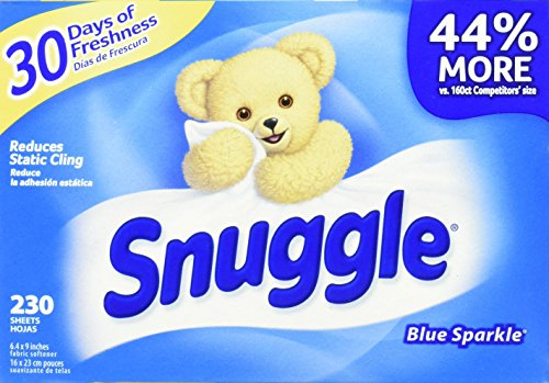 Price comparison product image Snuggle Fabric Softener Dryer Sheets, Blue Sparkle, 230 Count