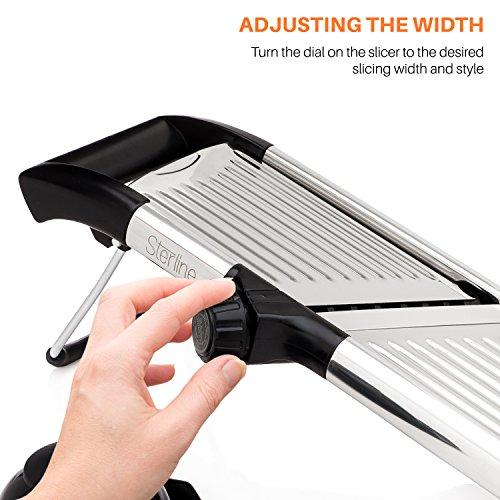 Sterline Adjustable Stainless Steel Mandoline Slicer $20.99