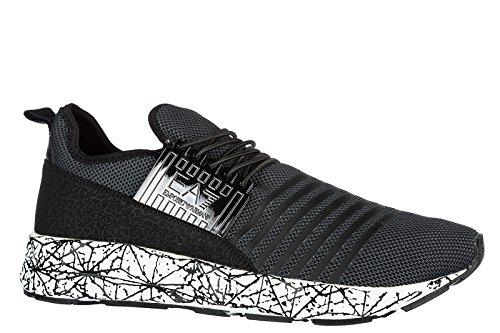 Emporio Armani Ea7 Chaussures Sneakers Homme Nouveau Original Noir