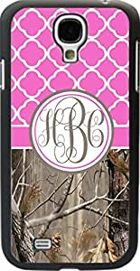Country Girl Hot Pink Camo Quatrefoil Monogram Case Samsung Galaxy S4