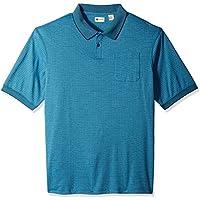 Haggar de los hombres grandes y Tall Short Sleeve MINIBOX Knit Polo
