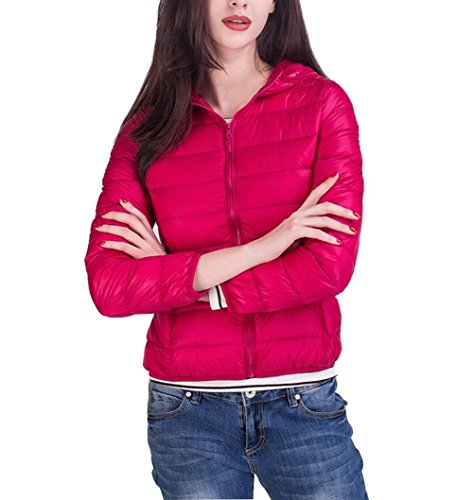 Jacket Coat Winter Down Warm RED Slim Short 3XL Coat Jacket Warm Women'S Hooded qpRaCxwOE