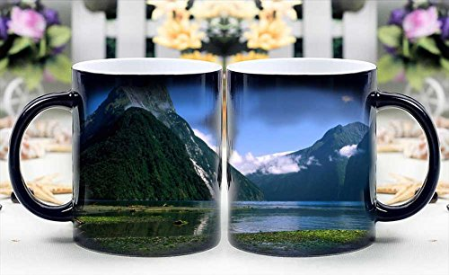 iRocket Magic Mug - Heat Sensitive Color Changing Coffee Cup - Mitre Peak Milford Sound Magically Appear- Best Creative Gift Choice (Mitre Cup)