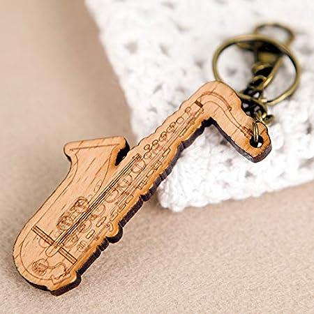 Amazon.com: Ochoos - Llavero con diseño de guitarra de piano ...