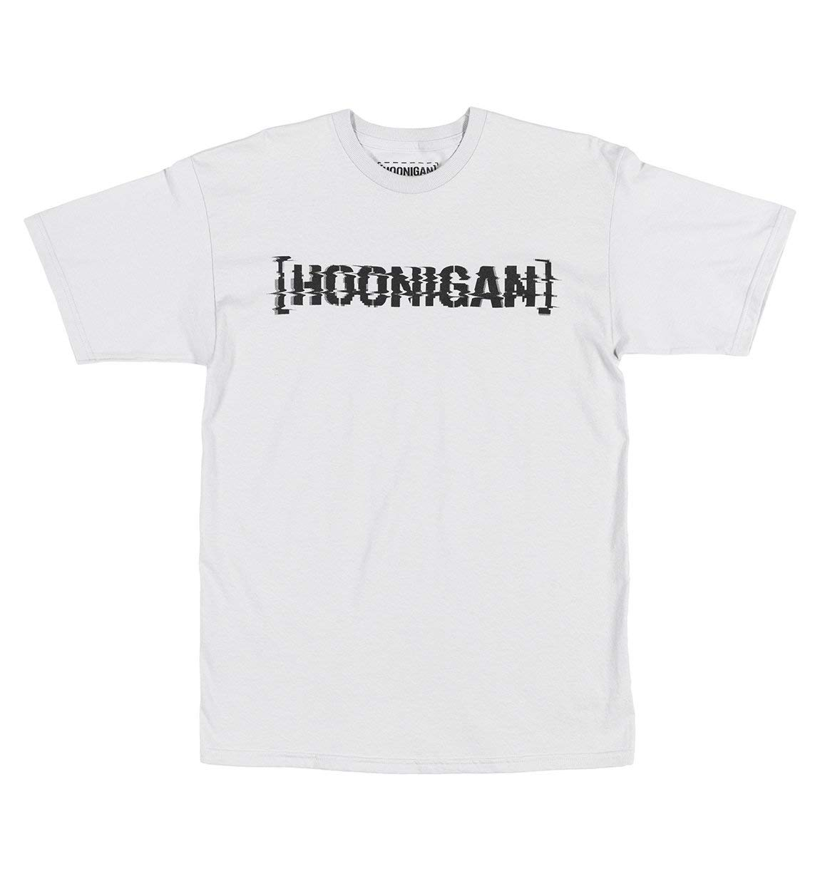 Hoonigan Glitch Bracket Short Sleeve Graphic T-Shirt - Best Cool Graphic Tee for Mechanics, Gear-Heads, Car Truck Motorcycle Enthusiasts, Drifting, Race-Car Sports Fans Gift for Him by Hoonigan (Image #1)