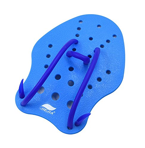 JIEJIA Swim Paddles for Hands with Adjustable Strap for Teens Professional Swimmer Improve Swimming Speed Medium Size 8.6 6 Inch