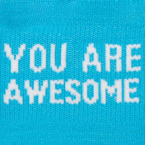 Inspirational Athletic Running Socks | Women's Woven Low Cut | You Are Awesome Teal