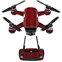 Skin for DJI Spark Mini Drone Combo - Cherry Grain| MightySkins Protective, Durable, and Unique Vinyl Decal wrap cover | Easy To Apply, Remove, and Change Styles | Made in the USA
