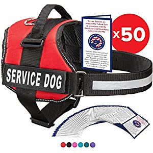 Industrial Puppy Service Dog Vest with Hook and Loop Straps and Handle – Harness is Available in 8 Sizes from XXXS to XXL – Service Dog Harness Features Reflective Patch and Comfortable Mesh Design