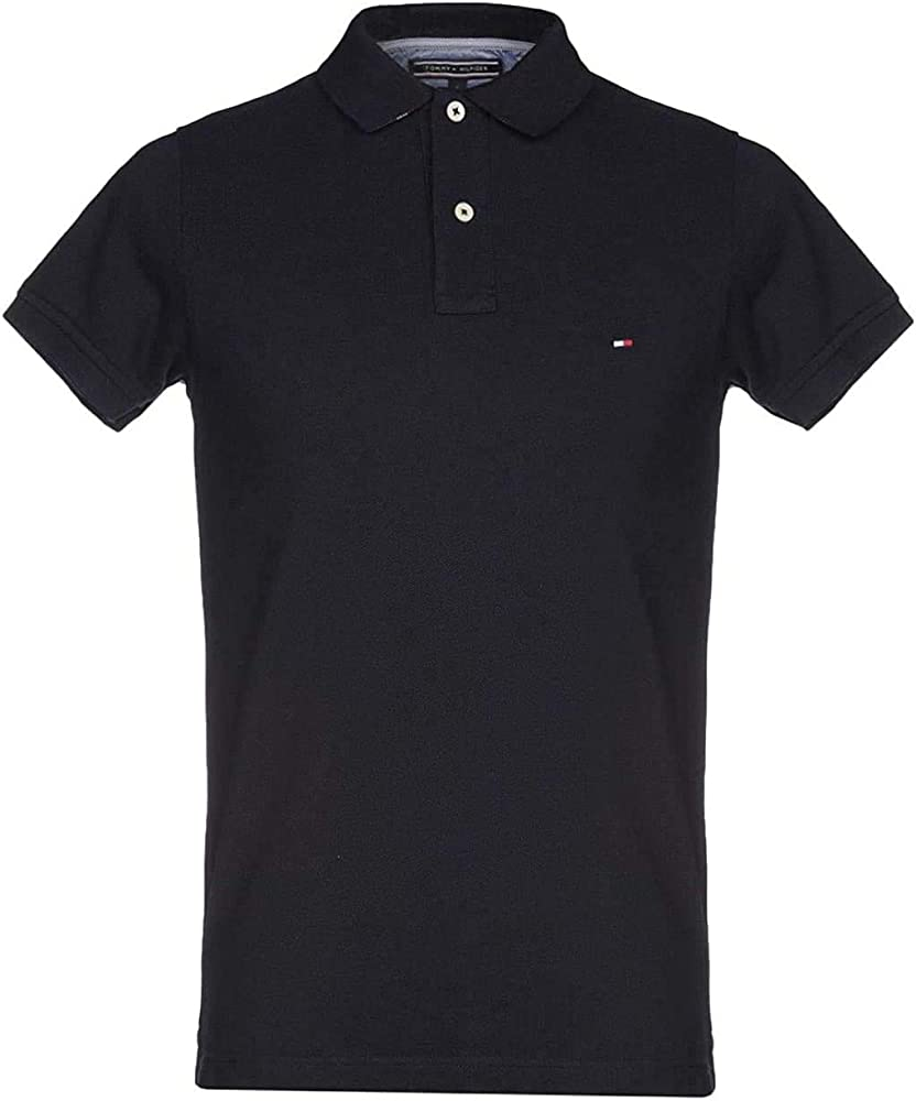 TOMMY HILFIGER Men/'s TH FLEX Classic Polo Shirt Slim Fit Black sizes M or L