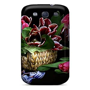 Snap-on Lovely Tulips Case Cover Skin Compatible With Galaxy S3
