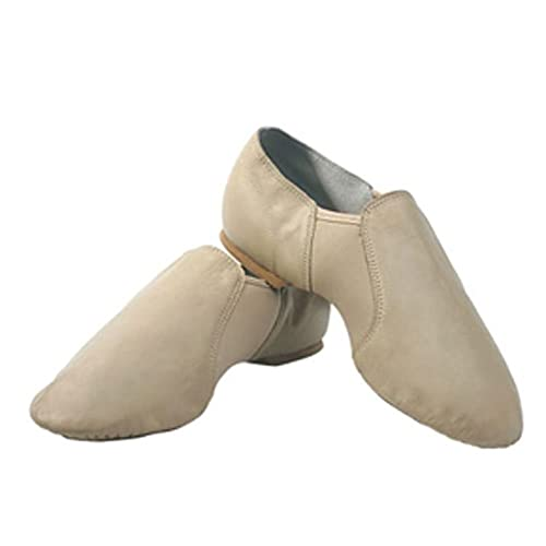 Sansha Tan Jazz Leather Split Sole Dance Shoes Little Girls 1M 0b715e8fa82