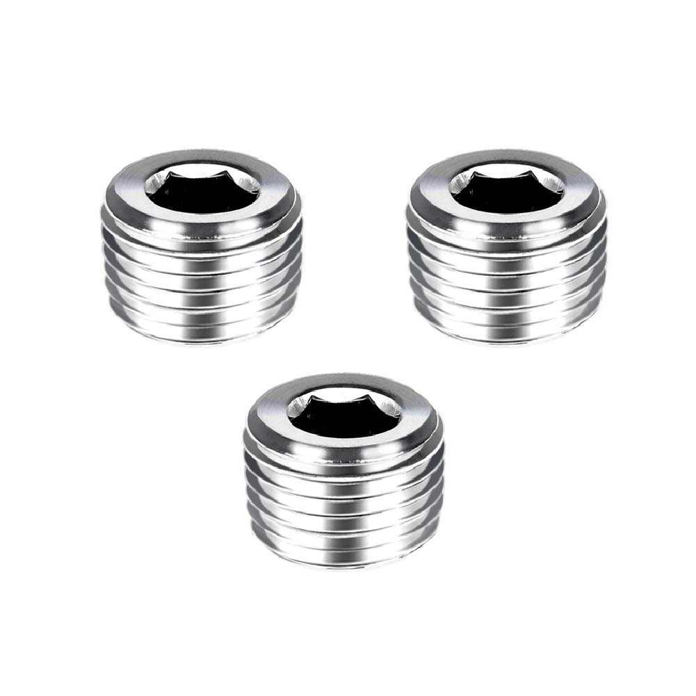 "Socket Head Stainless Steel Pipe Plugs 1//4/"" NPT 12 Pieces"