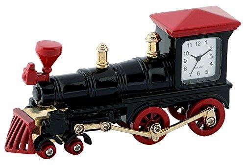 ミニチュアクロックコレクション(MiniatureClockCollection)ミニチュア置時計 汽車 機関車 電車 黒赤 ブラックレッド C3176-RDBK B078697GNW