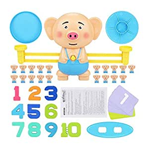 Educational Puppy pig intelligence balance digital games toy for kids