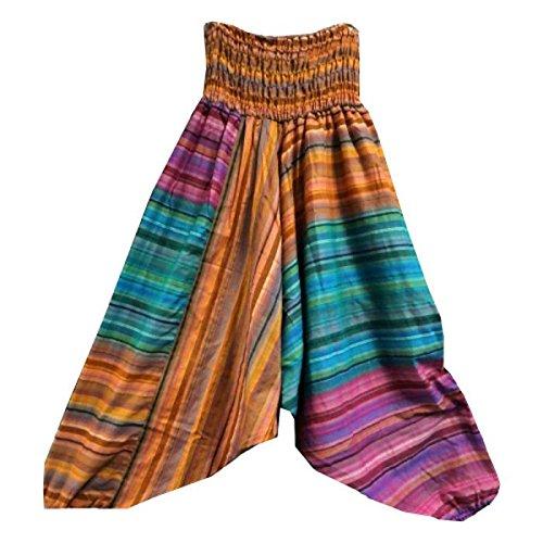 PANTALONI A SBUFFO striati in diversi colori stile Aladino Artigianato a mano in India importazione originale