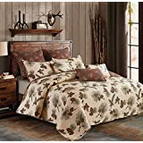 Virah Bella Collection Phyllis Dobbs Forest Pines Polyester Full/Queen Quilt Bedding Set with 2 Standard Shams