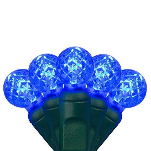 G12 Light Led Strings (G12 LED Razzberry Blue Prelamped Light Set, Green Wire - 70 G12 Blue LED String Lights, 4