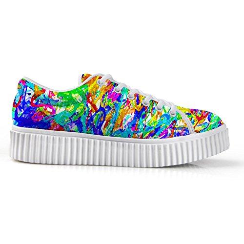 Câlins Idée Galaxie Mode Féminine Chaussures De Sport Lacets Chaussures Colorées 2