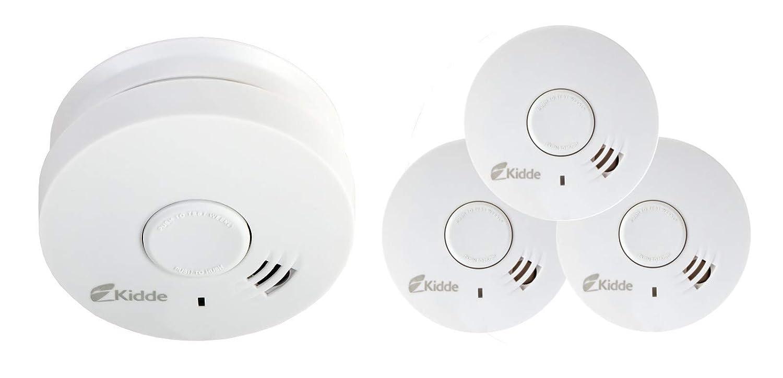 3 x Kidde - 10y29 - Alarma de humo fotoeléctrico óptico de 10 años (vida y garantía) batería sellada: Amazon.es: Hogar