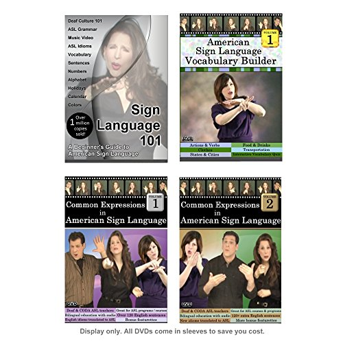 Sign Language Starter Kit (5 DVDs - 2020 Edition)