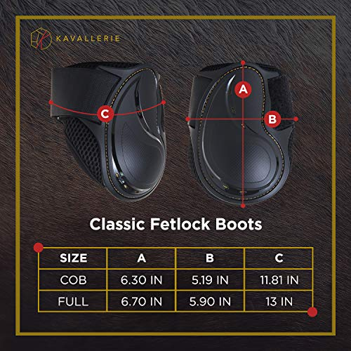 Kavallerie Classic Fetlock Boots, Impact-Absorbing and Air-Perforated Material, Durable & Evenly Distributes Pressure, Fetlock Injury Protection, Non- Slip with Soft Lining Show Jumping Boots by Kavallerie (Image #6)