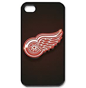 Cellphone Accessories iPhone 4/4s Case with NHL Detroit Red Wings Logo Background Design-by Sportscoverit