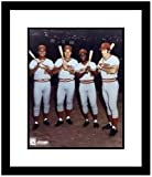 Pete Rose, Johnny Bench, Joe Morgan and Tony Perez Cincinnati Reds MLB Framed 8x10 Photo