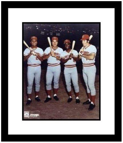 Pete Rose, Johnny Bench, Joe Morgan and Tony Perez Cincinnati Reds MLB Framed 8x10 - Perez Photograph