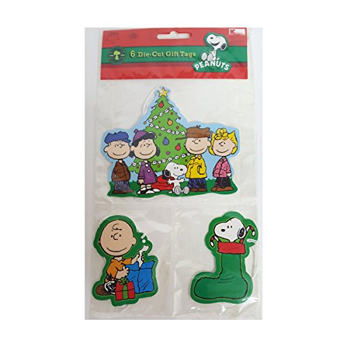 (Paper Magic Peanuts Gang Snoopy 6 Die-cut Tags)