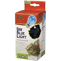 Zilla Reptile Terrarium Heat Lamps Incandescent Bulb, Day Blue, 75W