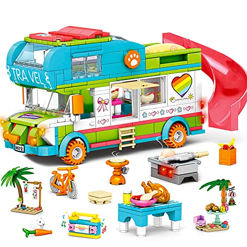 HOGOKIDS Girls Camper Building Toy: