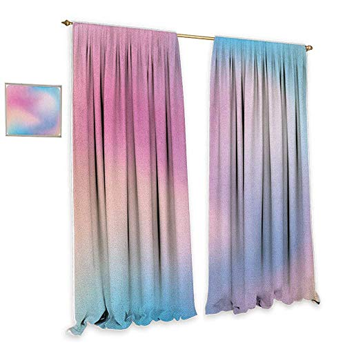 Pastel Decor Curtains Abstract Blurry Colors Composition Sweet Daydream Fantasy Miscellaneous Home Garden Bedroom Outdoor Indoor Wall Decorations 55 Wx45 L Pink Aqua Peach White