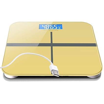 FLy Balanzas Electrónicas Recargables De USB Balanzas para El Hogar, para Adultos, para La