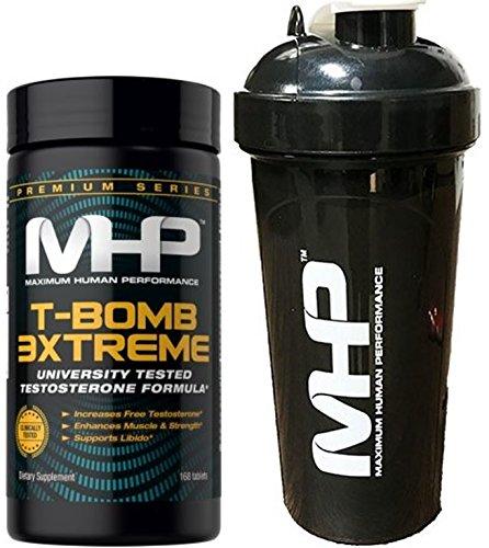 MHP T‑Bomb 3Xtreme 168 Tablets + MHP Shaker 25 oz