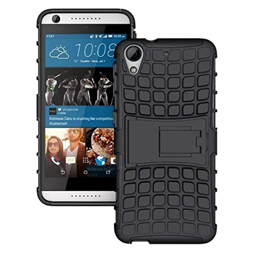 (HTC Desire 626 Case, DDLBiz® Tough Rugged Dual Layer Protective Case with Kickstand for HTC Desire 626 626S (Black))